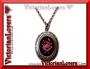 Collana Gothic Locket - Purple Rose
