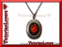 Collana Gothic Locket - Red Rose