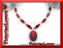 Collana Red SkullBone