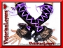 Guanti Velluto Pizzo e Laccetti di Raso - Purple