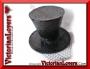 Mini Hat Black Glitter