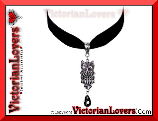 Collarino Black Owl by VictorianLovers.com