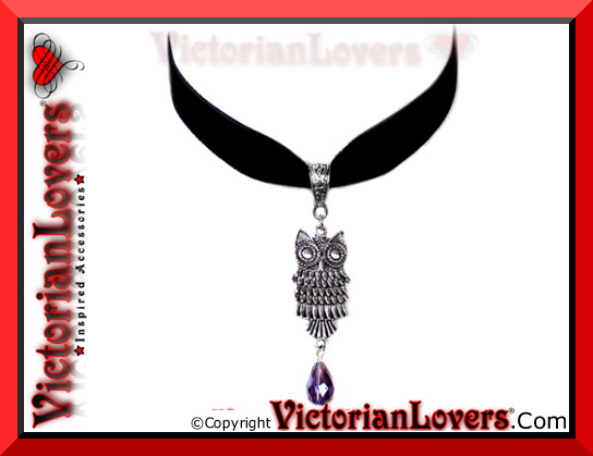 Collarino Purple Owl by VictorianLovers.com