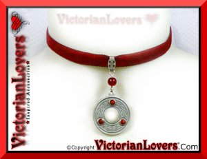 Collarino Red Celtic Circle by VictorianLovers.com