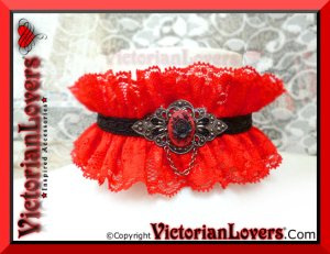 Collarino Bloody Rose by VictorianLovers.com