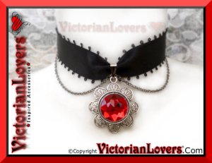 Collarino Sanguine Flower by VictorianLovers.com