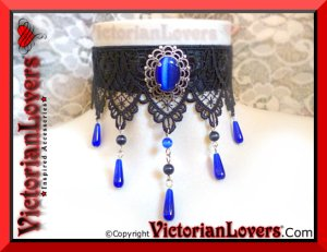 Collarino Imperial Blue by VictorianLovers.com