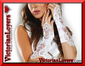 Guanti White Lace by VictorianLovers.com