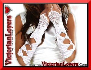Guanti White Bride by VictorianLovers.com
