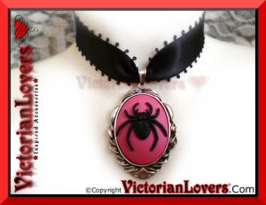 Collarino Aracnofobia - Black Spider by VictorianLovers.com