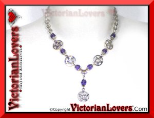 Collana Purple Pentacle by VictorianLovers.com