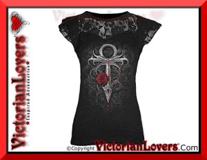 Maglia Vampire's Kiss by VictorianLovers.com