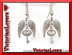 Orecchini Wings in Love by VictorianLovers.com
