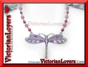 Collana Dragonfly Viola by VictorianLovers.com