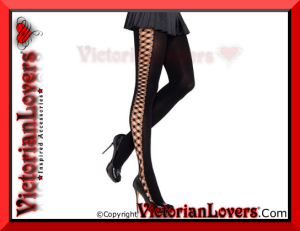 Calze Crocheted Criss Cross by VictorianLovers.com