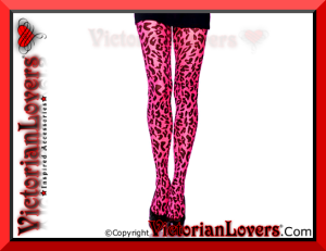 Calze Pink Neon Leopard by VictorianLovers.com