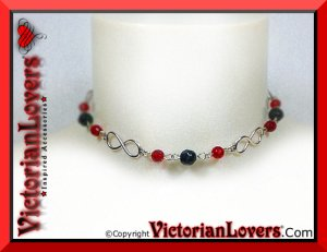 Collana Infinito Rossa by VictorianLovers.com