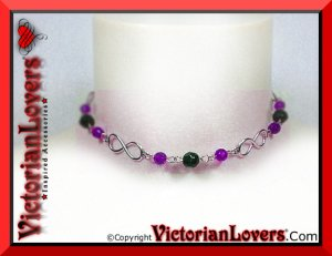 Collana Infinito Viola by VictorianLovers.com
