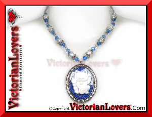 Maneki Neko Blue by VictorianLovers.com
