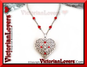 Collana Red Heart by VictorianLovers.com