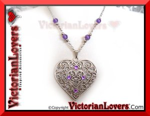 Collana Purple Heart by VictorianLovers.com