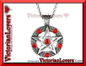 Collana Red Pentacle by VictorianLovers.com