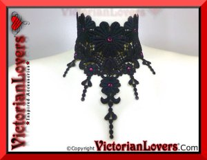 Collarino Enchantress Amethyst by VictorianLovers.com