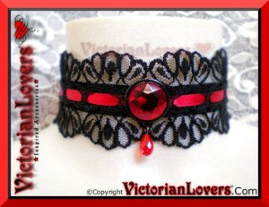 Collarino Red Passion by VictorianLovers.com