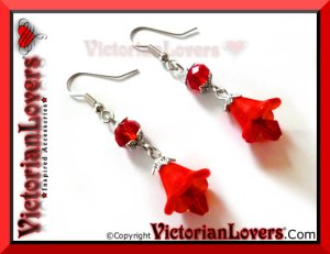Orecchini Red Lily by VictorianLovers.com