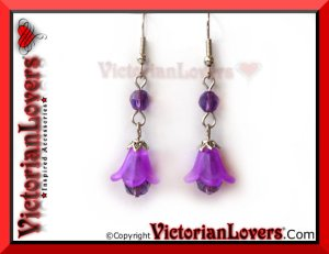 Orecchini Purple Lily by VictorianLovers.com