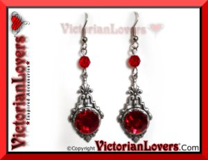 Orecchini Red Passion by VictorianLovers.com