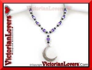 Collana Crescent Moon by VictorianLovers.com