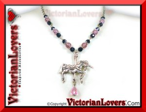 Collana Unicorn Carousel by VictorianLovers.com