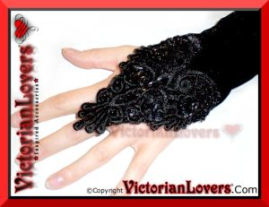 Guanti velluto paillettes by victorianLovers.com
