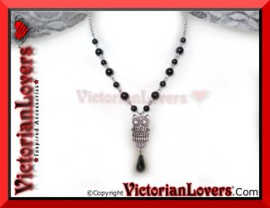 Collana Black Owl by VictorianLovers.com
