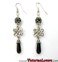 Celtic Black Earrings by VictorianLovers.com (R)