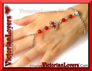 Bracciale Schiava Red Heart by VictorianLovers.com
